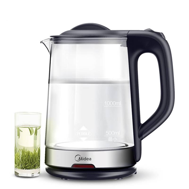 Midea/美的 MK-GJ1702烧水壶电热水壶家用自动断电玻璃开水壶