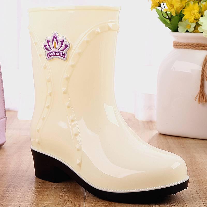 雨鞋女韩国可爱秋冬时尚中筒水靴休闲套鞋防滑水鞋胶鞋成人雨靴