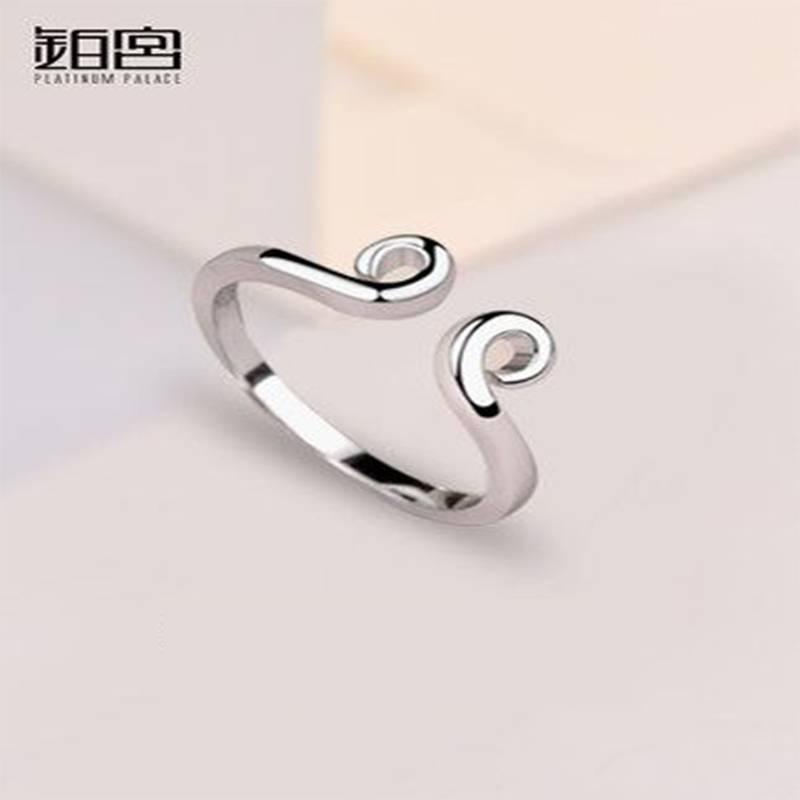 至尊宝戒指情侣一对纯银形影不离紧箍咒对戒日韩简约原创设计素戒
