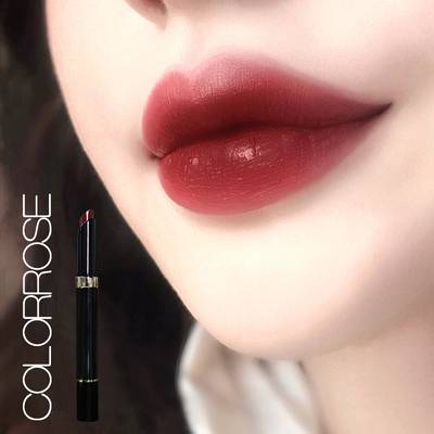 colorrose/蜜桃丝绒口红小众品牌英国口红女学生款平价正冰奶茶色
