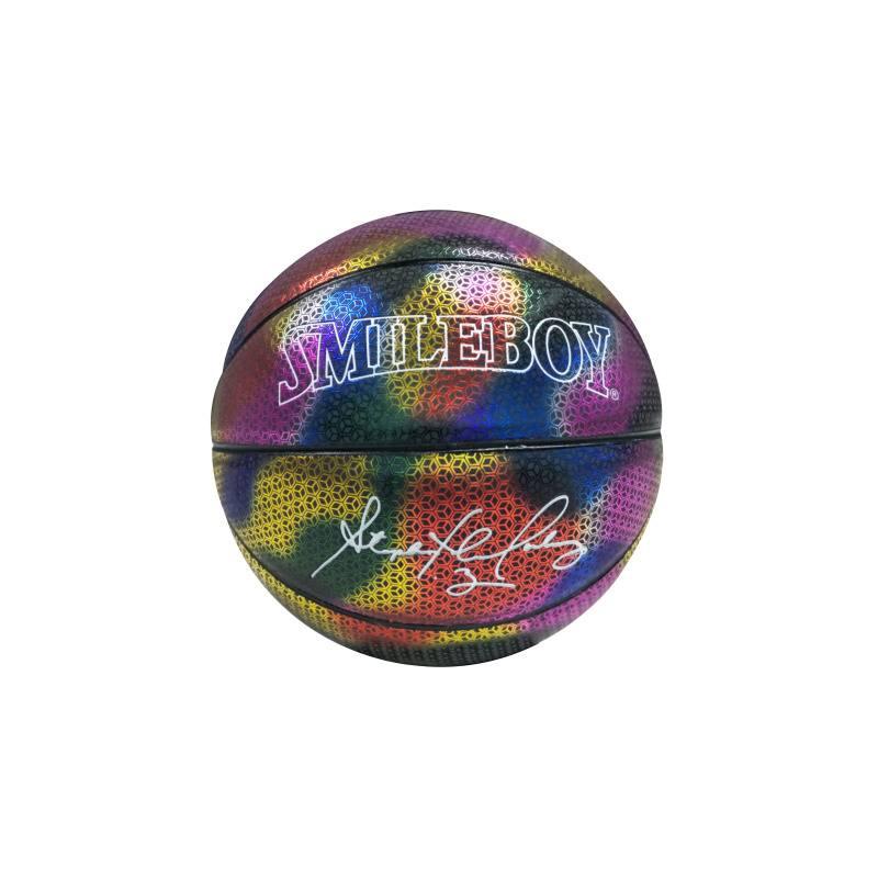 马布里签名反光篮球夜光发光荧光室内男女生日礼物567号定制刻字
