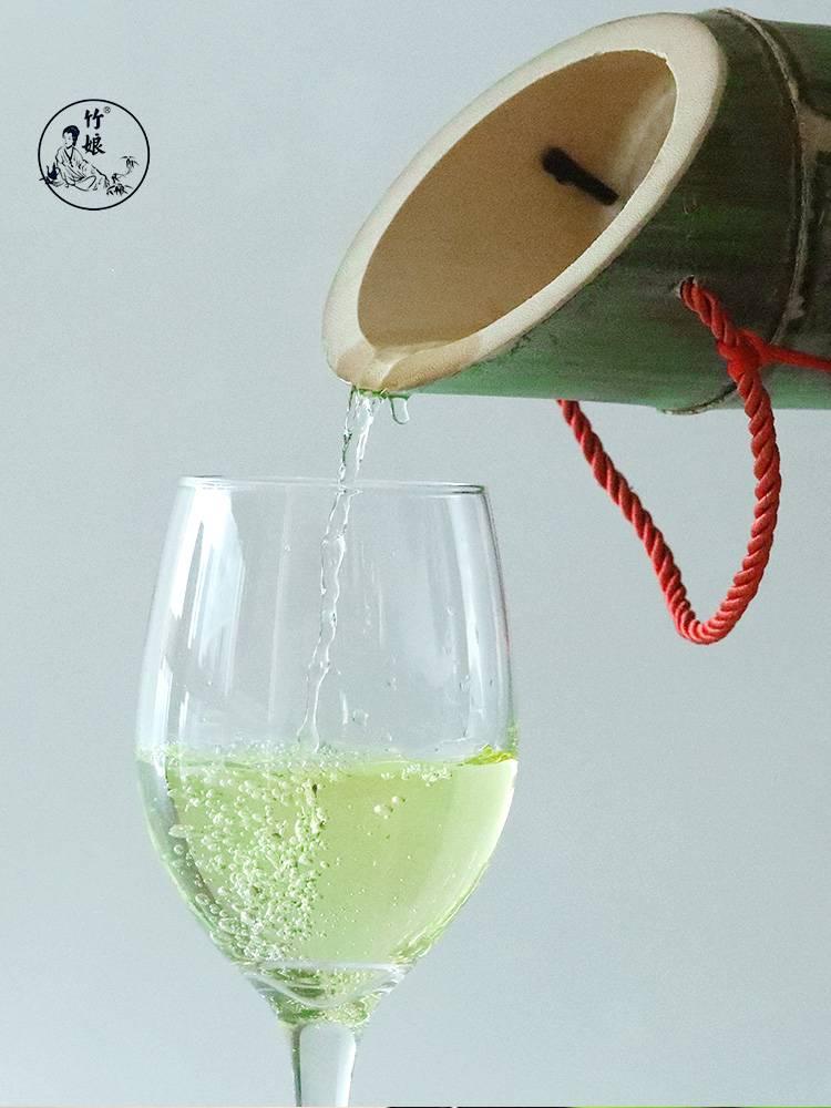 竹娘竹筒酒52度浓香型原生态鲜竹酒青竹酒白酒鲜活毛竹酒裸装1瓶