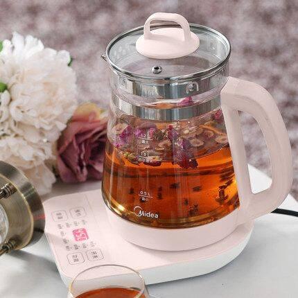 美的养生壶办公室小型全自动加厚玻璃养身花茶壶家用多功能煮茶器