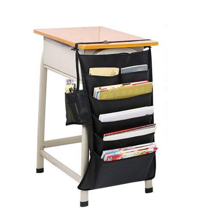 书袋 课桌收纳袋 挂书袋学生高中生简易多功能简约桌上课桌书本收纳挂袋书立挂架 装书收纳袋子桌边挂书袋