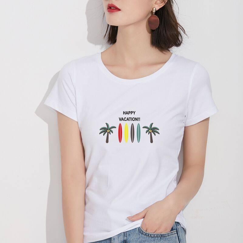夏季韩版白色t恤女短袖学生ulzzang百搭宽松半袖体恤原宿bf上衣潮