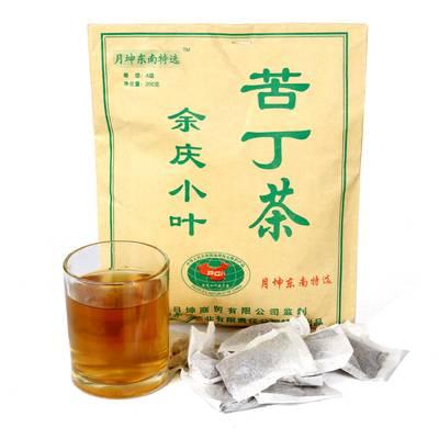 贵州余庆小叶苦丁茶发酵正品野生特级月坤袋泡茶的功效小包装茶叶