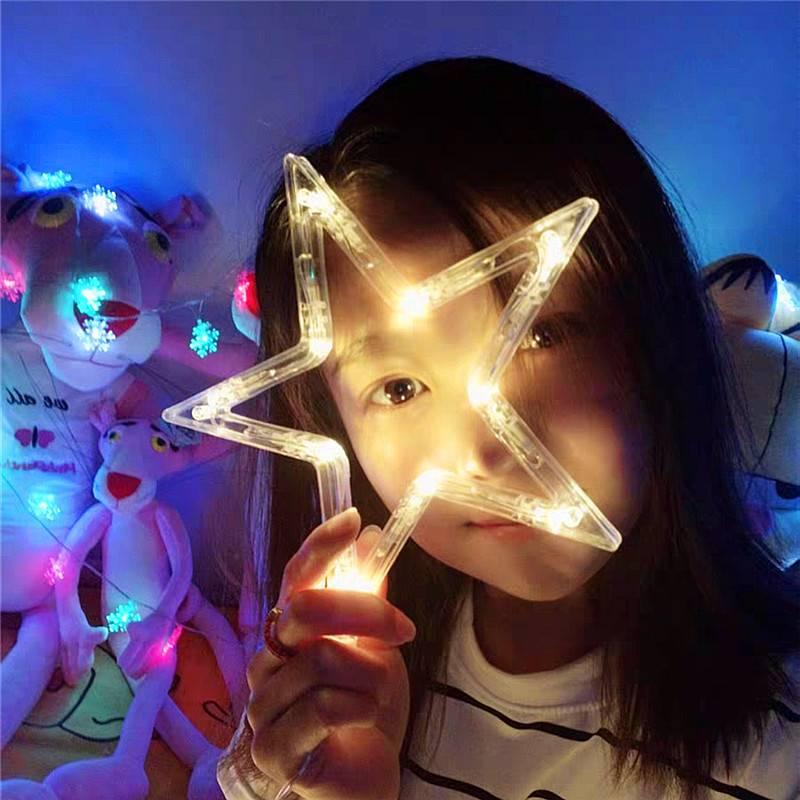 led星星灯小彩灯闪灯串灯满天星网红卧室阳台房间窗帘装饰品布置