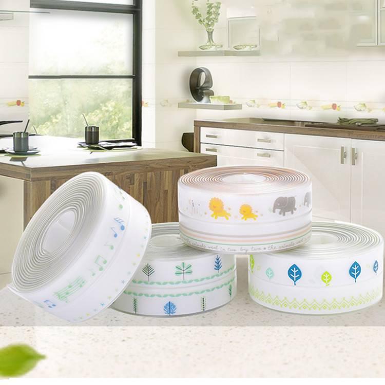 厨房防霉防水胶带厨卫灶台封边洗菜盆水槽缝隙美缝马桶贴条密封贴