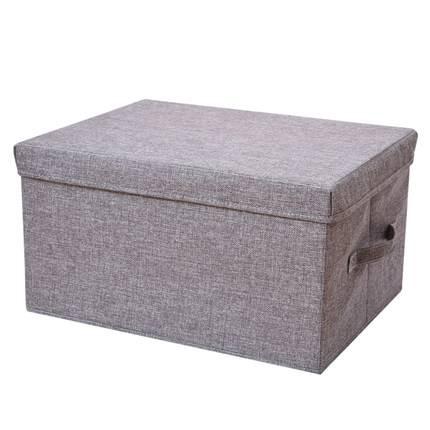 百草园仿棉麻衣物收纳箱布艺衣服整理箱衣柜收纳盒家用储物箱折叠