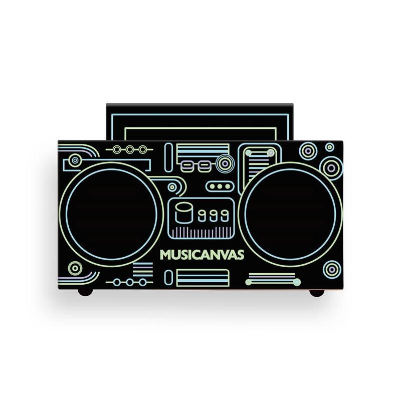 音乐画布S-BABY夜光蓝牙音箱便携式炫酷家用收音机创意礼物大黄蜂