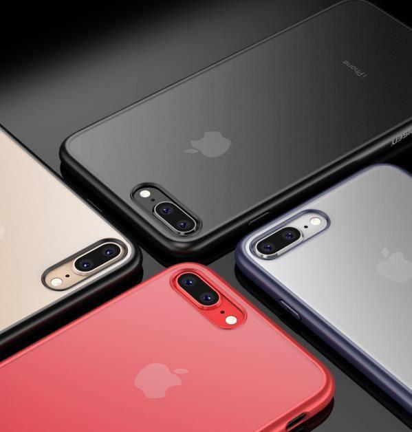 品胜苹果7手机壳iPhone8 Plus磨砂透明保护套苹果7p/8p硅胶软全包防摔超薄裸机手感简约男潮牌八防滑七硬壳女