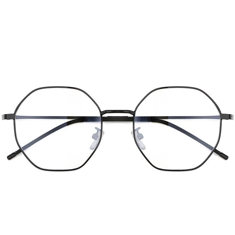 复古网红不规则多边形眼镜框近视有度数男防蓝光辐射护目眼镜架女