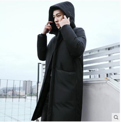 2018新款韩版潮流帅气休闲保暖冬季男士宽松外套羽绒棉衣男中长款