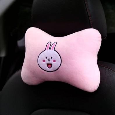 汽车头枕卡通创意可爱韩国四季通用座椅靠枕腰靠车内用品护颈枕女