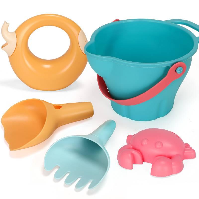 儿童沙滩玩具车挖沙工具套装铲子桶玩沙子决明子宝宝戏水洗澡玩具