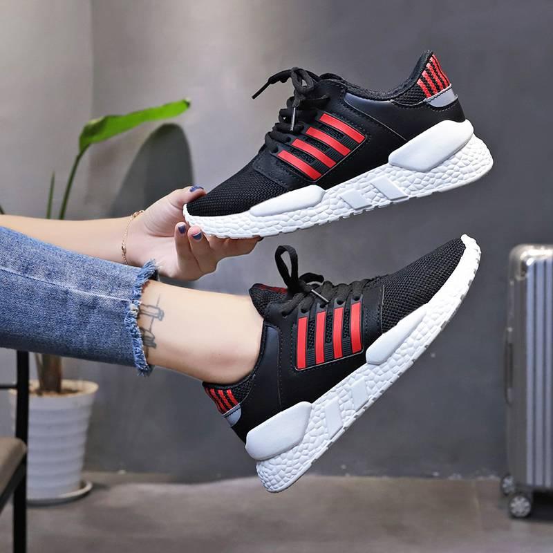 兰茵朵2020新款韩版百搭运动鞋透气学生跑步板鞋ins飞织休闲女鞋