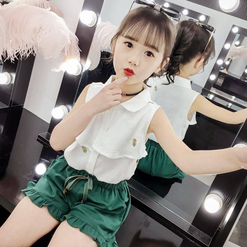 女童夏装套装2019新款童装儿童小女孩夏天洋气时髦网红两件套夏季
