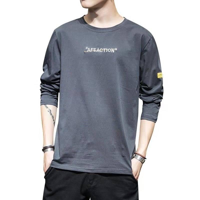 纯棉T恤男长袖2020春季新款