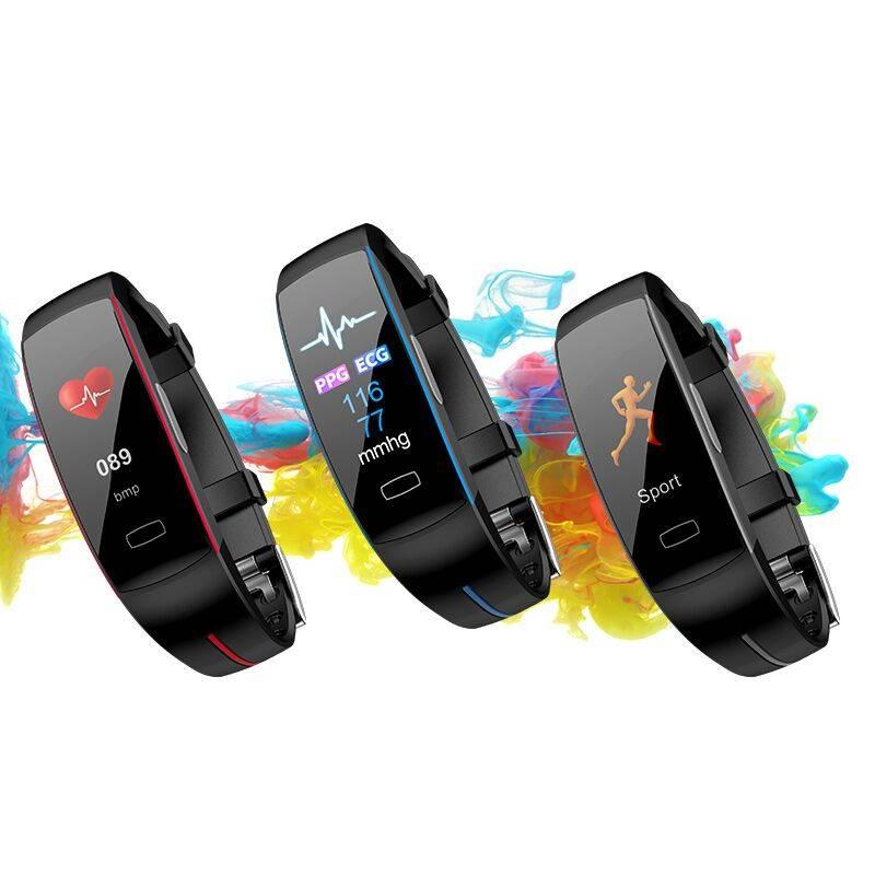 智能手环多功能大彩屏心电图运动手表心率血压心跳防水计步器跑步睡眠监测来电短信提醒天气微信蓝牙学生男女