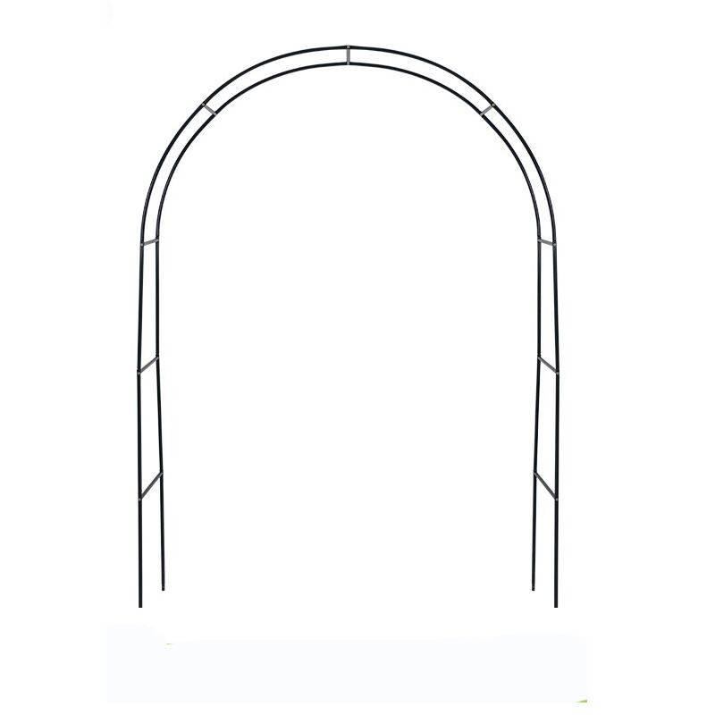 米蔻简易铁艺拱门花架庭院爬藤架铁线莲葡萄欧月支架藤本植物攀爬