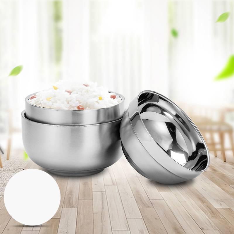 婆媳当家304不锈钢碗加厚双层隔热防烫防摔家用儿童成人甜品汤碗