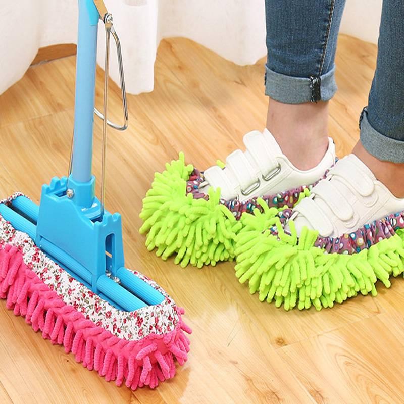急速发货擦地拖鞋拖把套可拆卸懒人鞋套加厚清洁抹布日本室内冬季