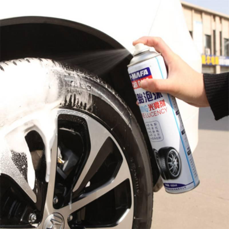 汽车轮胎蜡光亮剂持久型防水车胎泡沫清洗上光防老化汽车用品大全