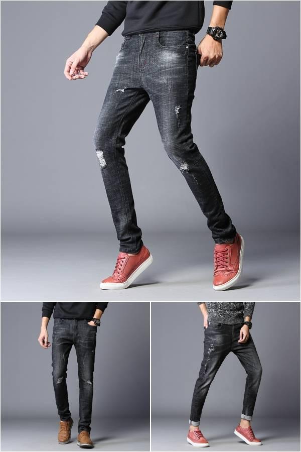 男士牛仔裤男新款秋季薄款修身青年休闲宽松直筒弹力深浅色男裤子