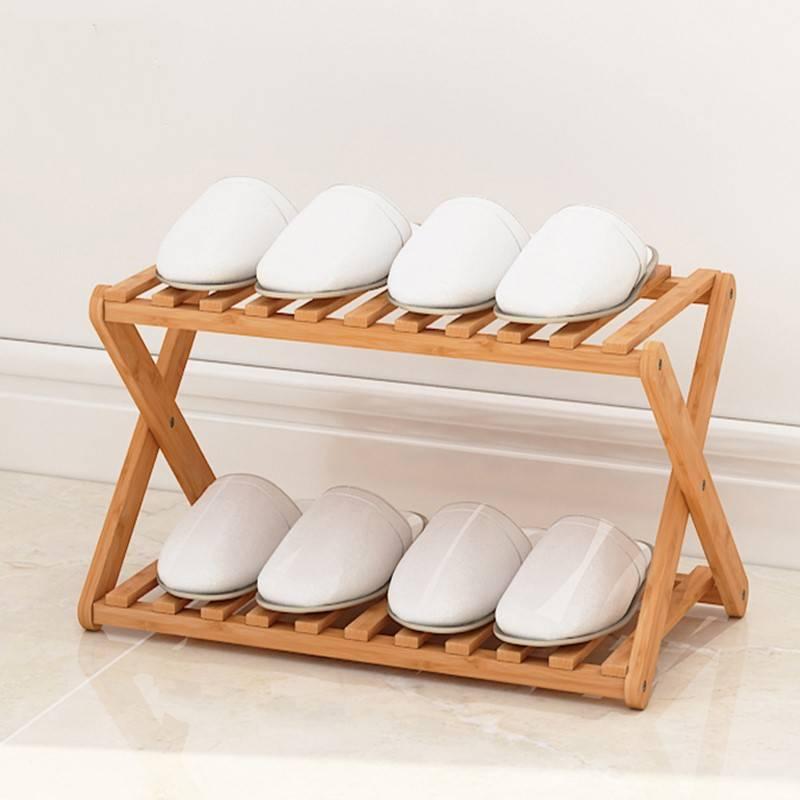 鞋架简易家用特价收纳小鞋柜子宿舍门口经济型省空间折叠竹置物架