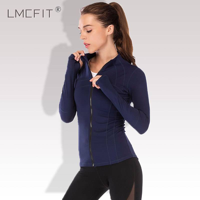 瑜伽外套女拉链开衫长袖速干修紧身初学者专业运动健身服上衣秋冬