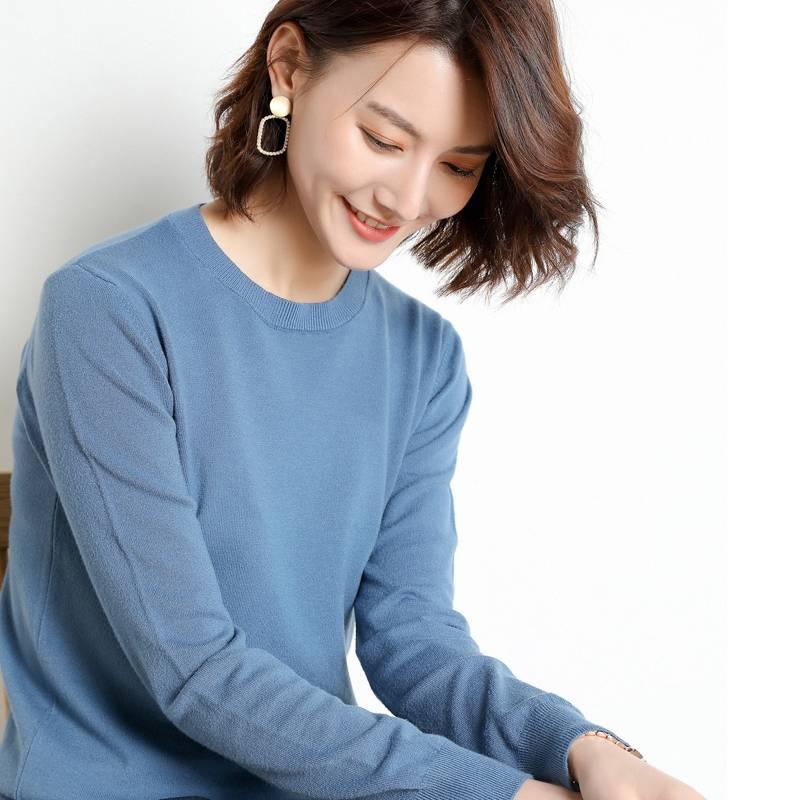 【品牌清仓】圆领领短款加厚宽松慵懒风高领套头韩版打底针织衫女