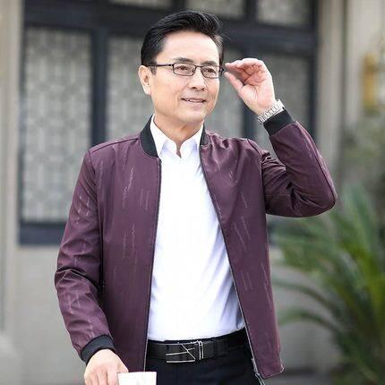 FRAMYSTICAL/梵匡2019秋季新款中老年男士外套立领夹克休闲外套