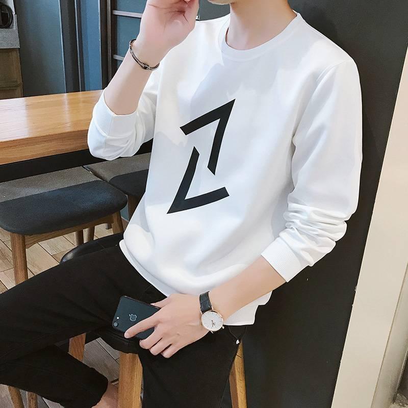 春季韩版休闲长袖T恤男装卫衣