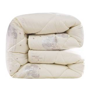 金典雅鹿100%澳洲羊毛被子被芯冬被加厚保暖春秋被驼毛被子棉被褥