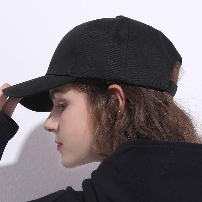 Bolv帛侣纯色棒球帽四季鸭舌帽男女百搭休闲旅游防晒帽遮阳太阳帽