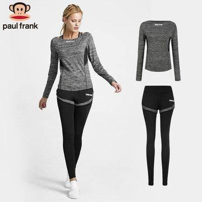 Paul Frank/大嘴猴跑步运动套装女2019新款速干健身房瑜伽服套装