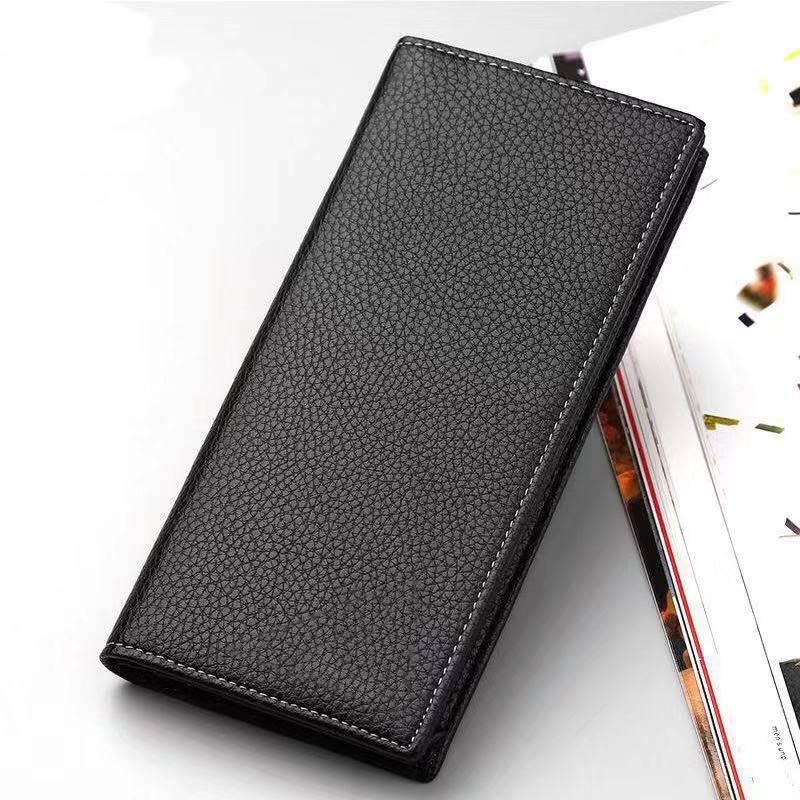 长短款钱包PU皮革钱夹男士驾照商务软皮夹手机包多卡位二层牛皮