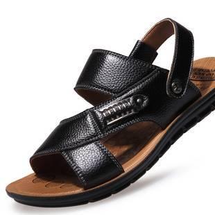 2020涼鞋男新款休閑真皮涼鞋防滑男士拖鞋沙灘鞋夏季韓版涼鞋
