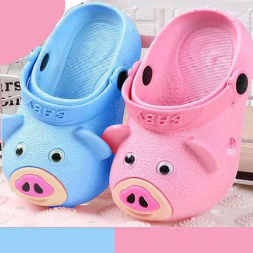 【第二件半价】儿童拖鞋夏季男女童学步鞋婴儿宝宝小猪