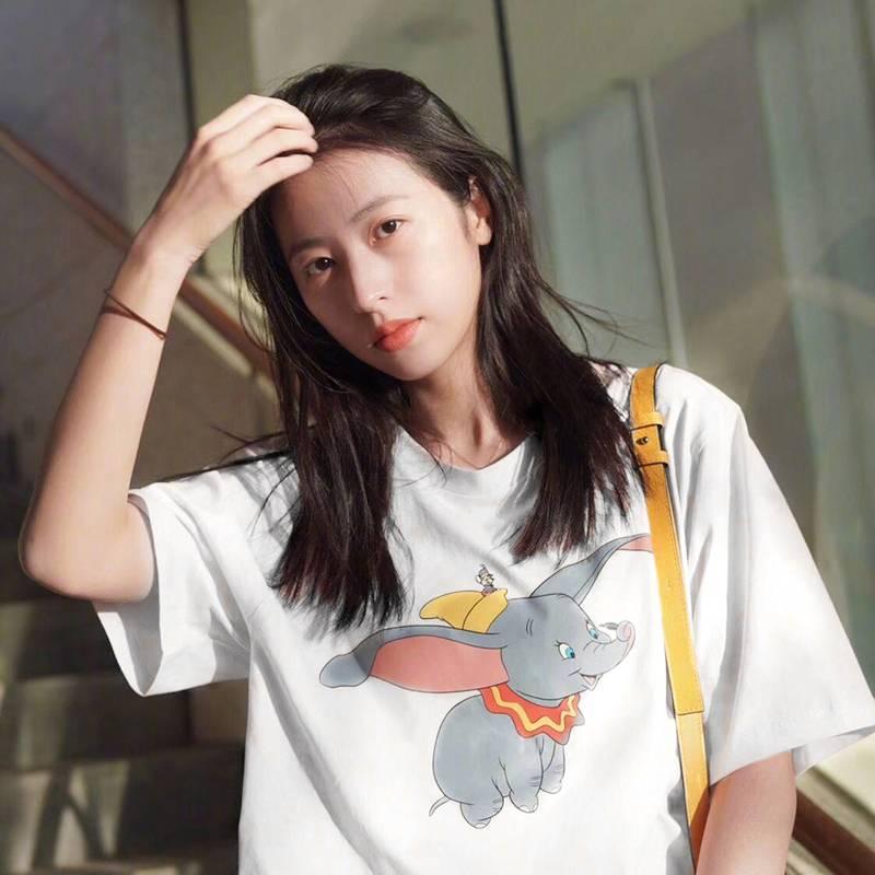 港味网红同款软妹新款女夏季韩版百搭白色短袖T恤上衣字母简约