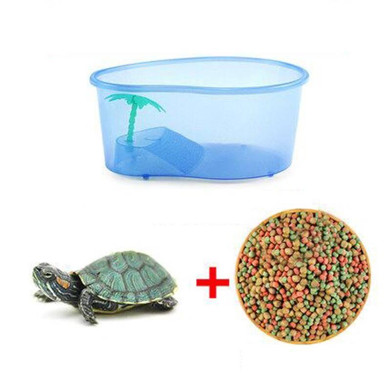 小型养乌龟专用缸水陆缸带晒台别墅玻璃金鱼缸巴西龟鱼混养缸鱼缸