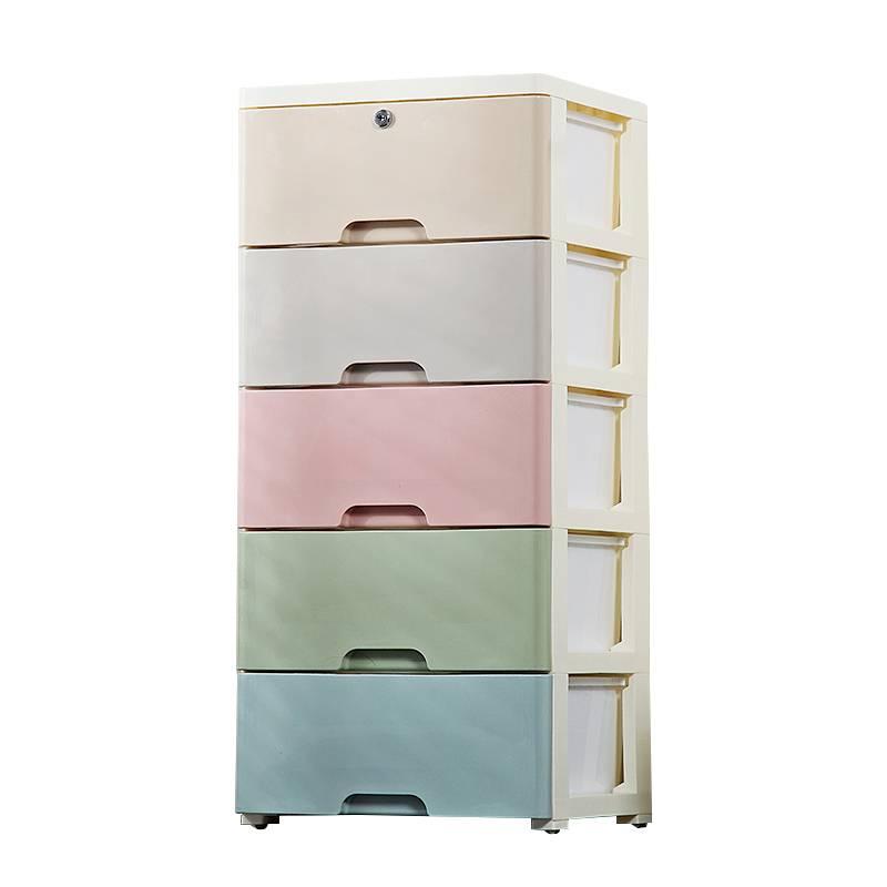 欧式塑料多层抽屉式收纳柜子儿童宝宝衣柜储物柜婴儿整理箱五斗柜