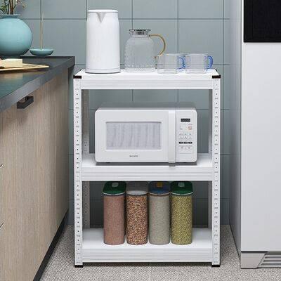 白色厨房置物架落地式多层微波炉烤箱架子收纳架多功能家用省空间