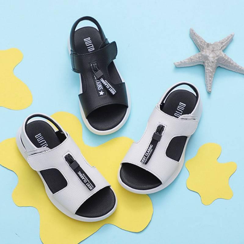 大东童鞋男童鞋子2019夏季新款男童运动沙滩凉鞋透气露趾小童鞋子
