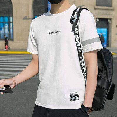 花花公子之家短袖t恤男套裝夏季新款運動男士休閑一套半袖衣服