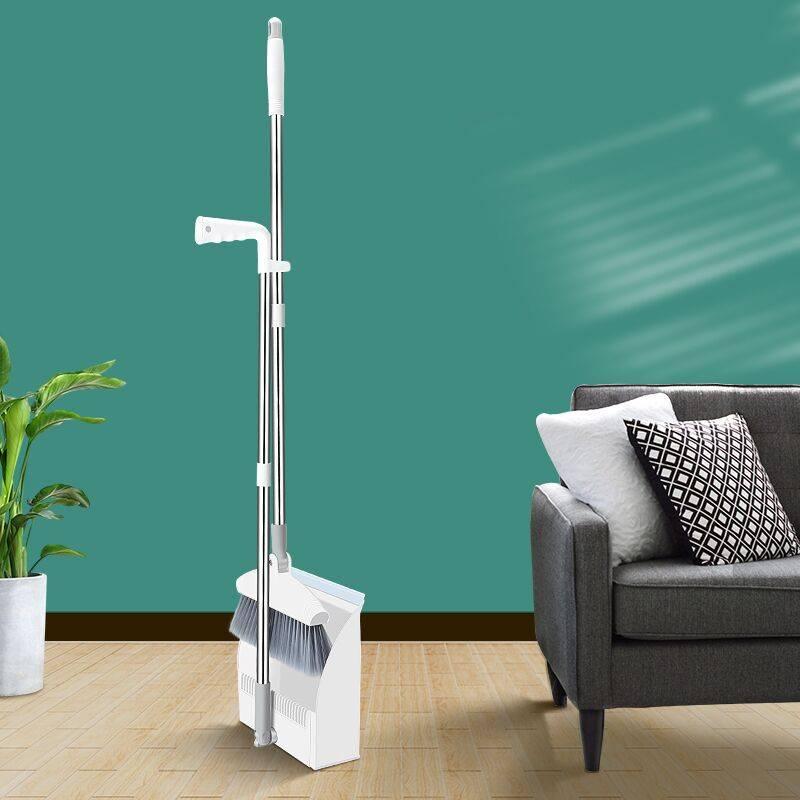 可折叠可站立扫把套装防风扫帚簸箕组合家用塑料扫地笤帚刮水器