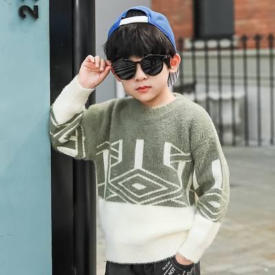 男童秋季毛衣寶寶長袖線衣2019新款兒童洋氣針織衫中小童秋冬上衣