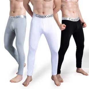 2条装男士保暖裤加厚加绒裤线裤紧身打底裤棉毛裤男秋裤单件冬季