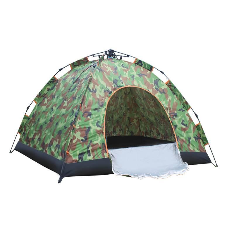 帐篷户外3-4人全自动双层加厚防暴雨帐篷2人单人野外露营旅行帐篷