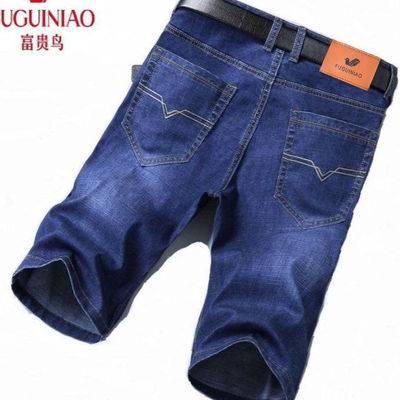 破洞牛仔短裤男士短款五分中裤宽松潮牌乞丐潮流爸爸外穿夏季薄款